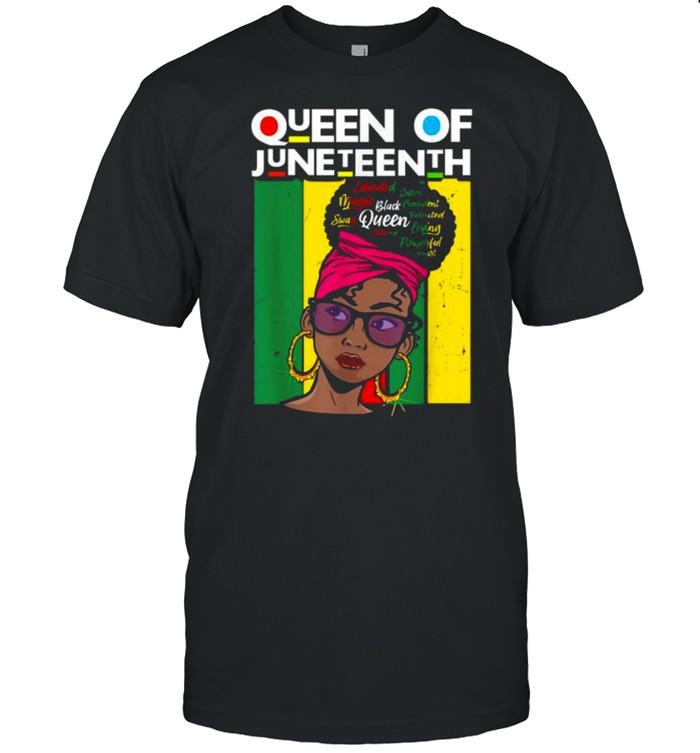 Queen Of Juneteenth Black Girl Magic Melanin Women Vintage T- Classic Men's T-shirt