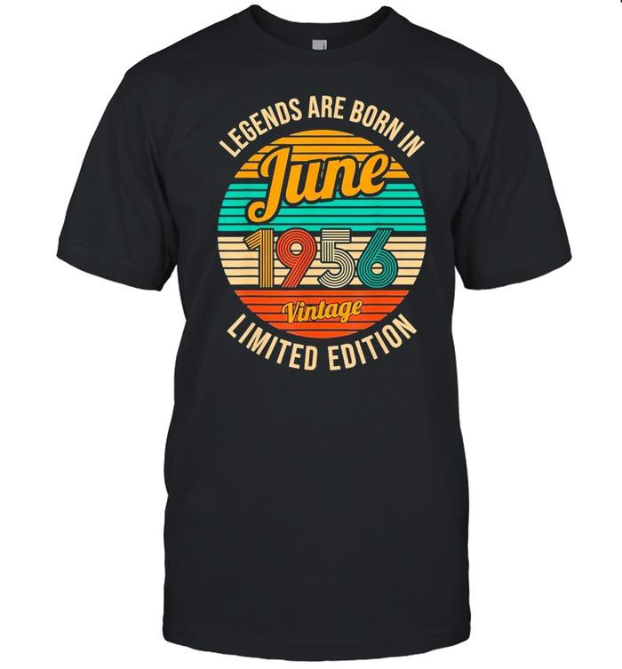 Legends Were Born In June 1956 65th Birthday Vintage shirt Classic Men's T-shirt