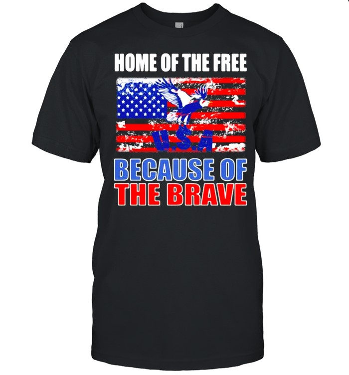 Home of the free because of the brave american flag shirt Classic Men's T-shirt
