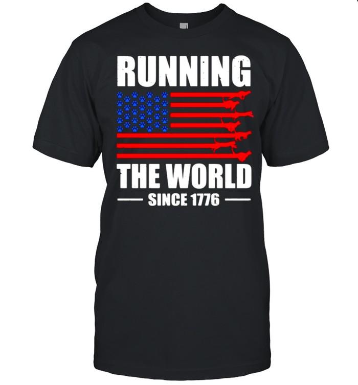 Running The World Since 1776 American Flag shirt Classic Men's T-shirt