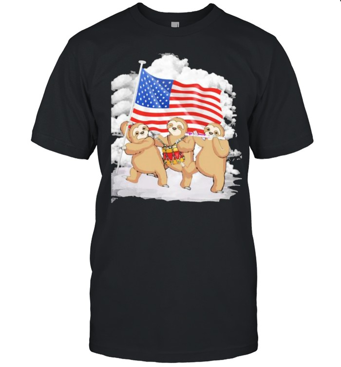 Sloth Love America Three Times  Classic Men's T-shirt