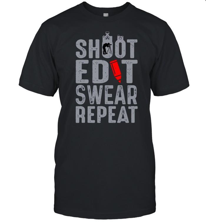 Shoot Edit Swear Repeat shirt Classic Men's T-shirt