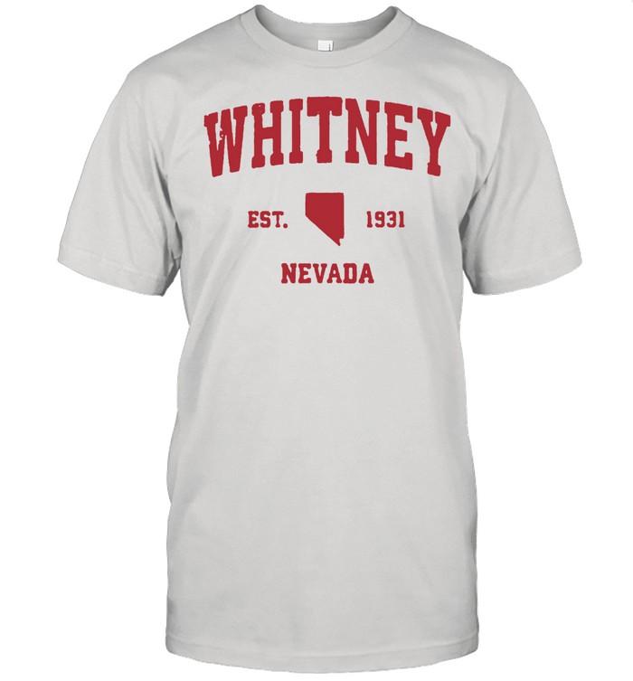 Whitney Nevada 1931 NV Vintage Sports T- Classic Men's T-shirt