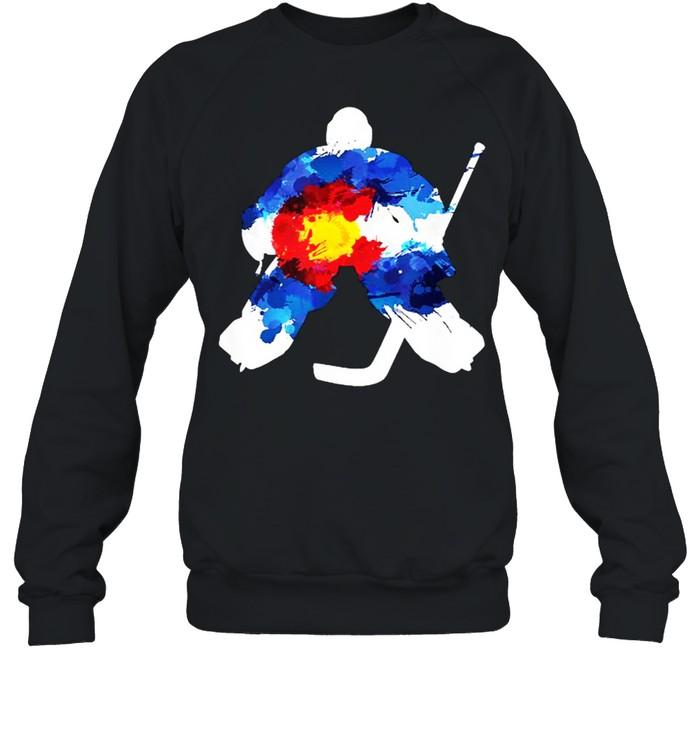 Colorado Hockey Goalie Watercolor T- Unisex Sweatshirt