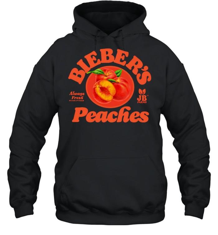 Justin Bieber's Peaches Purpose Tour T-shirt Unisex Hoodie
