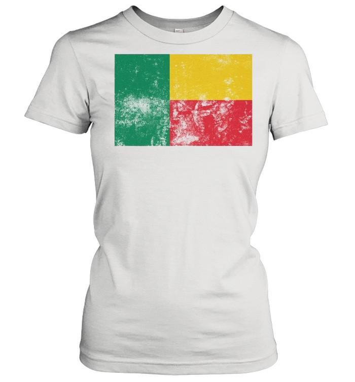 Retro Vintage Style Benin Flag Pride shirt Classic Women's T-shirt