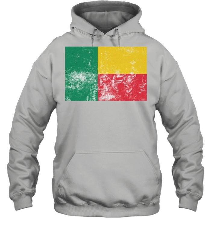 Retro Vintage Style Benin Flag Pride shirt Unisex Hoodie
