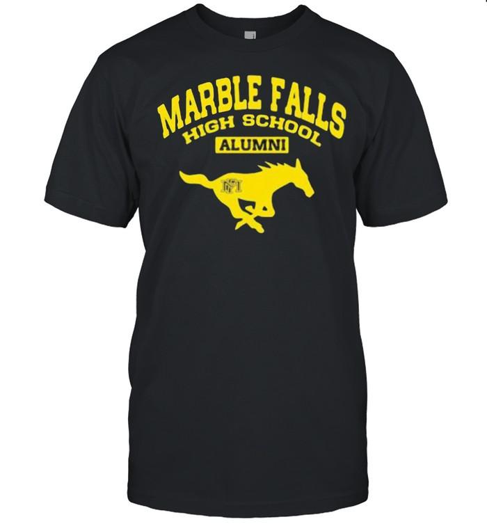 Marble falls hight school alumni vintage sports shirt Classic Men's T-shirt