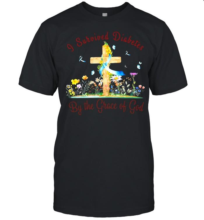 I Survived Diabetes By The Grace Of God T-shirt Classic Men's T-shirt
