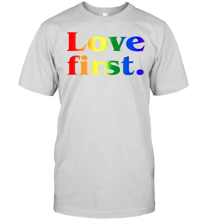 LGBT love first shirt Classic Men's T-shirt
