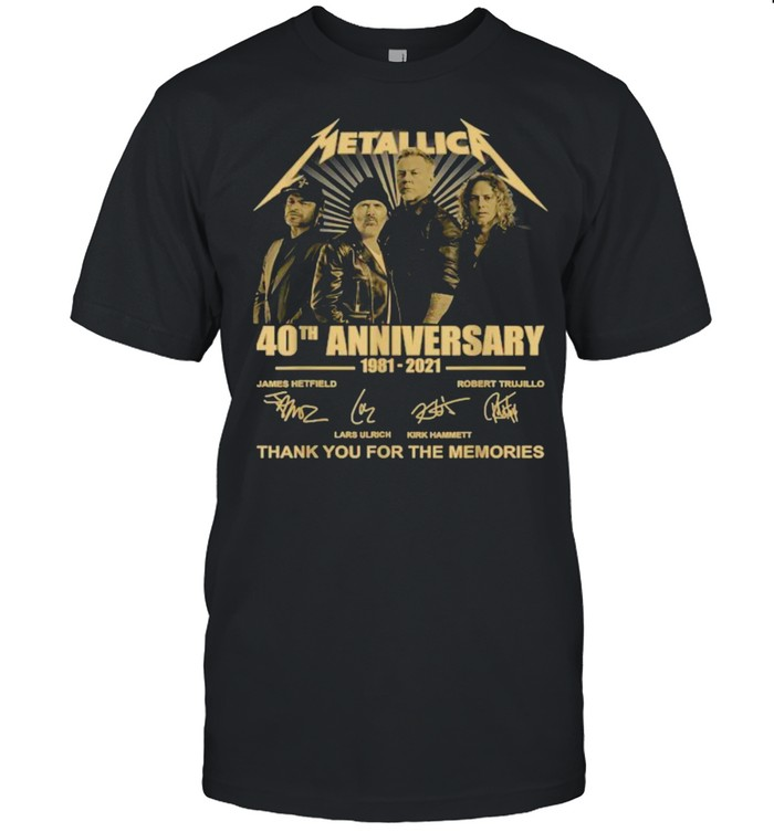 Metallicas 40th Anniversary 1981 2021 Thank you for the memories signature T- Classic Men's T-shirt