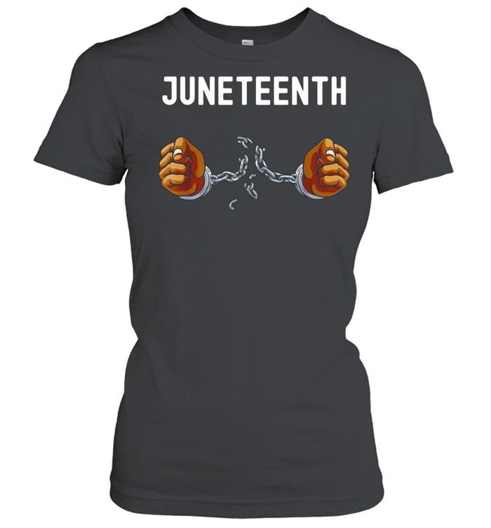 Juneteenth Africa Word Cloud Montage T-shirt Classic Women's T-shirt