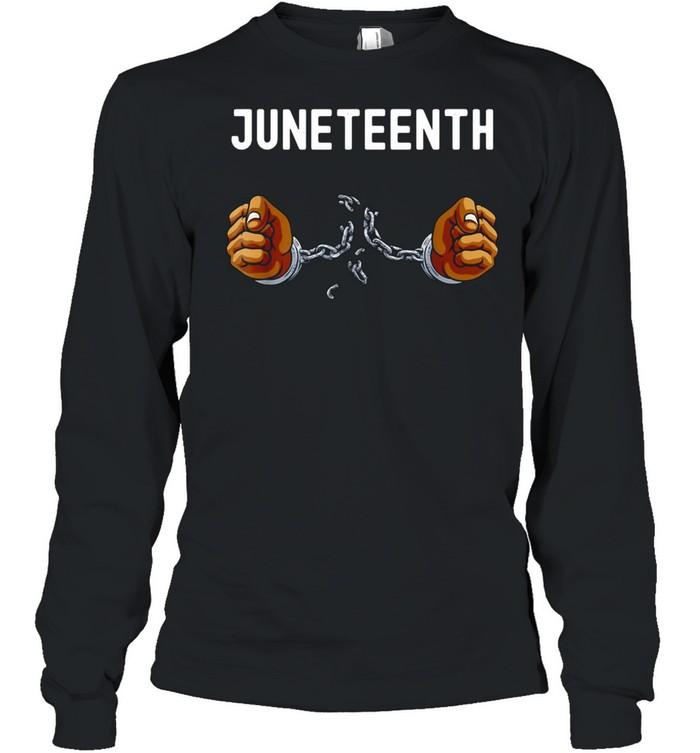 Juneteenth Africa Word Cloud Montage T-shirt Long Sleeved T-shirt