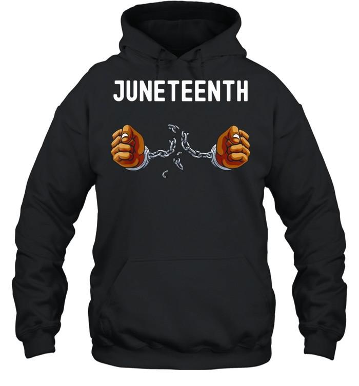 Juneteenth Africa Word Cloud Montage T-shirt Unisex Hoodie