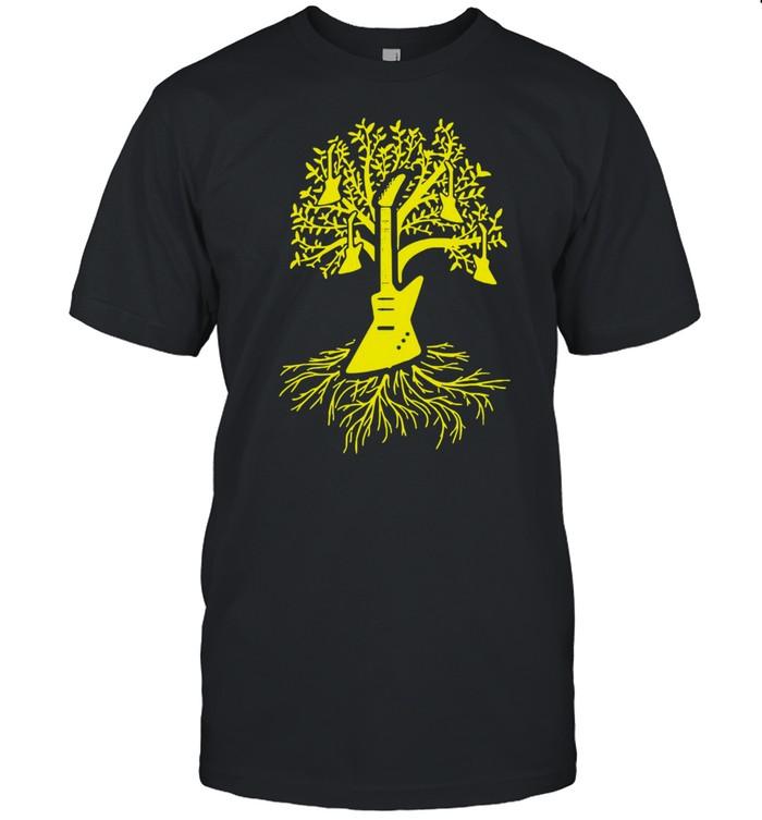 Player Tree Of The Guitarist Guitar T-shirt Classic Men's T-shirt