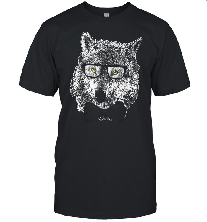 Wolf Themed Costume Party Wolves Cool Nerd Theme T-shirt Classic Men's T-shirt