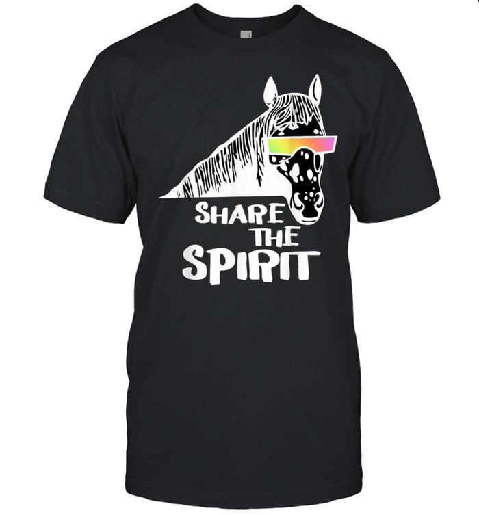 Cool Horse Share The Spirit 2 Fan Fun shirt Classic Men's T-shirt