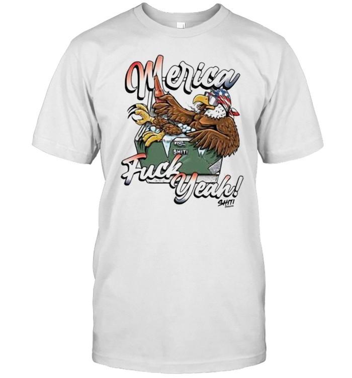 Merica Fuck Yeah Eagle  Classic Men's T-shirt