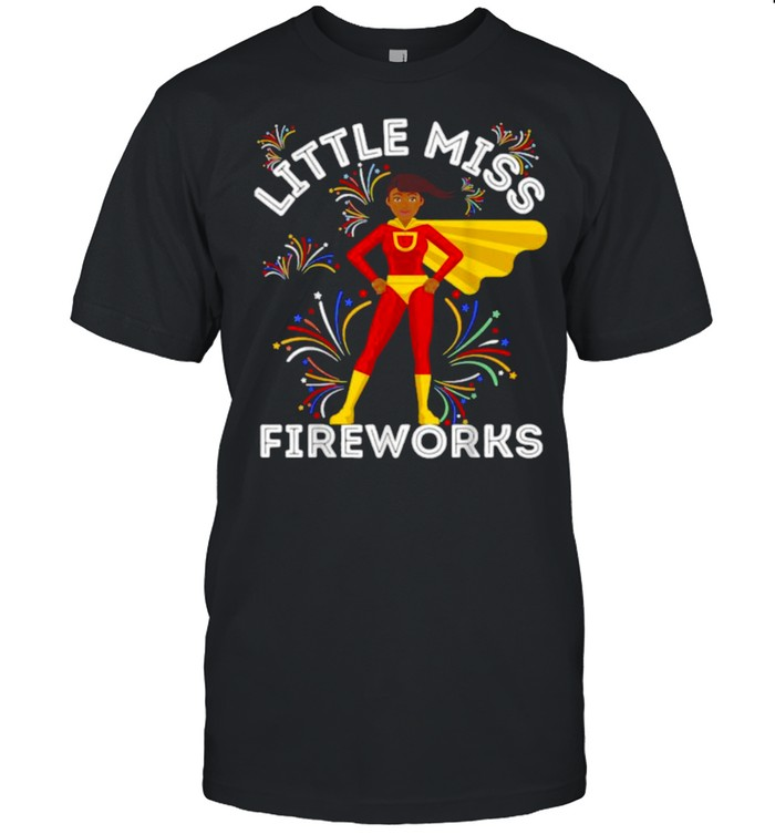 Little Miss Fireworks 4th Of July Toddlers Girls T- Classic Men's T-shirt