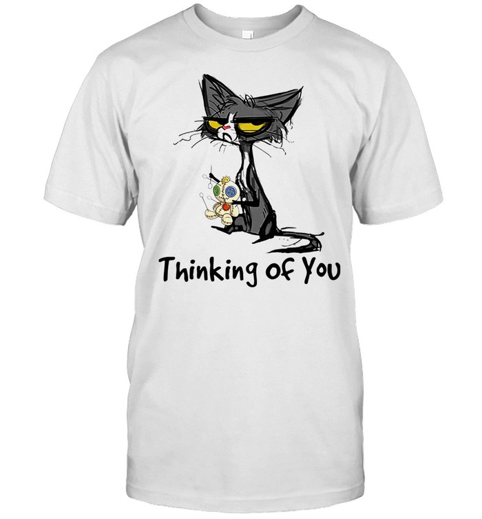 Black Cat thinking of you shirt Classic Men's T-shirt