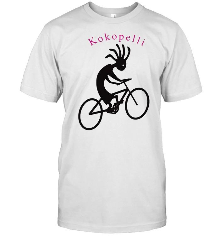 Kokopelli Biking  Native Flute Player Riding His Bike T-shirt Classic Men's T-shirt
