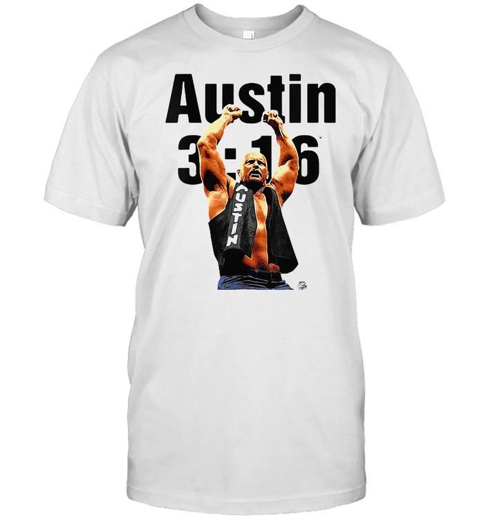 Wwe Austin 316 Colorized Steve Austin Arms Up T-shirt Classic Men's T-shirt