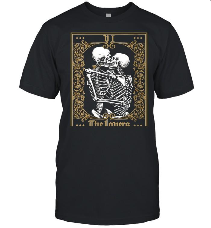 Thes Vintage Tarot Card Skeleton shirt Classic Men's T-shirt