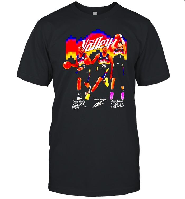 The Valley Phoenix Suns Chris Paul Mikal Bridges Devin Booker shirt Classic Men's T-shirt