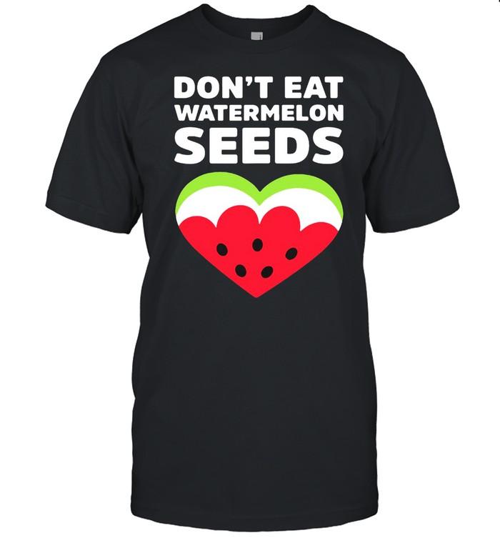Don't Eat Watermelon Seeds Watermelon Heart Summer T-shirt Classic Men's T-shirt
