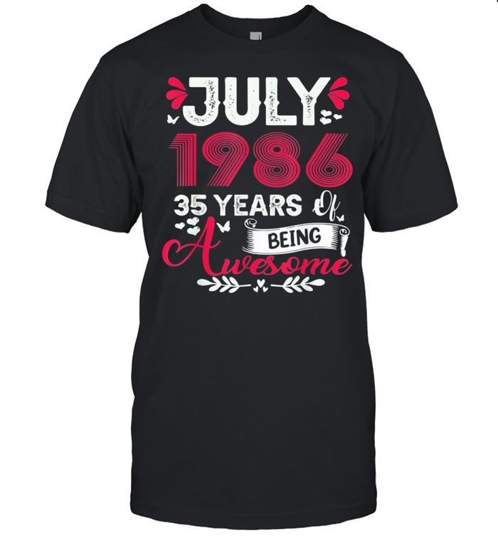 July Girl 1986 35th Birthday 35 Years Old shirt Classic Men's T-shirt