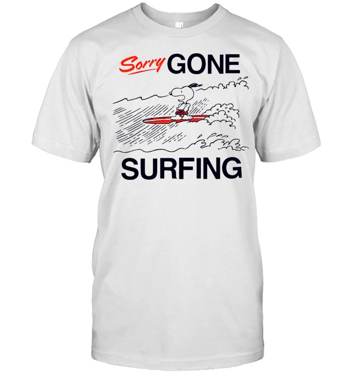 Snoopy sorry gone surfing shirt Classic Men's T-shirt