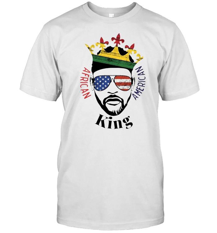 African American King T-shirt Classic Men's T-shirt