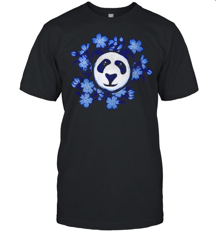Blue Panda Art Floral Pandas shirt Classic Men's T-shirt