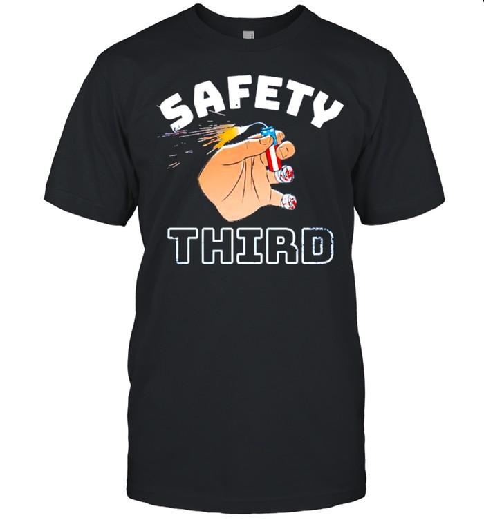 Firework safety third shirt Classic Men's T-shirt