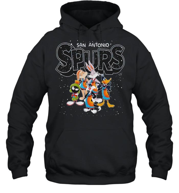 San Antonio Spurs Space Jam 2 characters shirt Unisex Hoodie