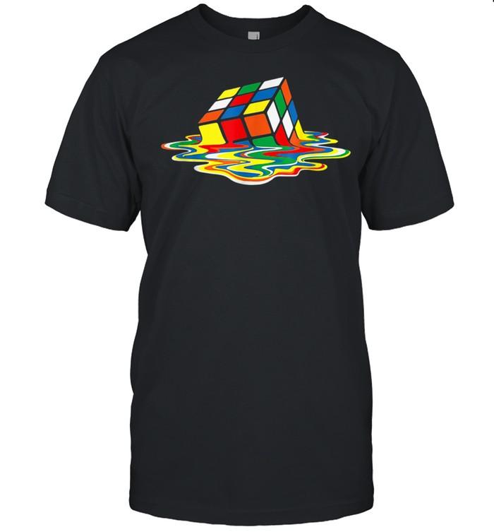 Melting Cube Retro Gaming Rubik Rubix Rubics Cube shirt Classic Men's T-shirt