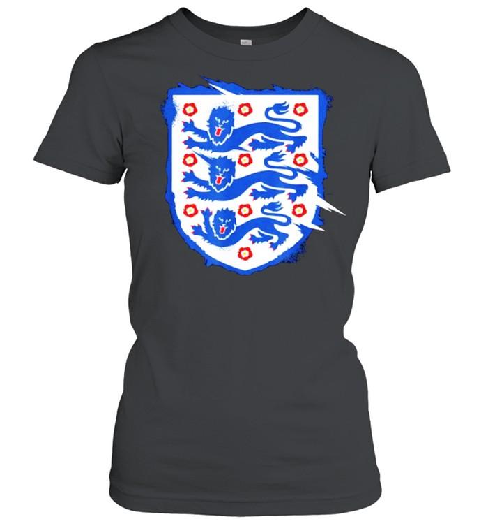England Three Heraldic Lions Crest Soccer Football 2020 2021 T- Classic Women's T-shirt