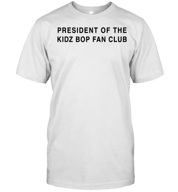 President of the KIDZ BOP Fan Club Black Font shirt Classic Men's T-shirt