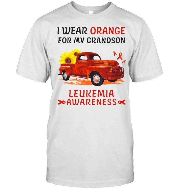 I Wear Orange For My Grandson Leukemia Awareness T-shirt Classic Men's T-shirt
