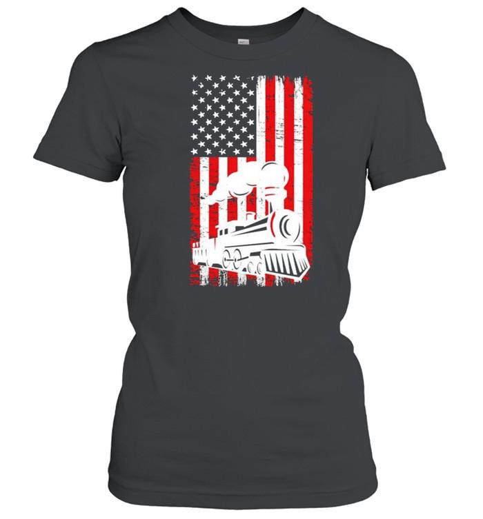 Train locomotive engine 4th july shirt Classic Women's T-shirt