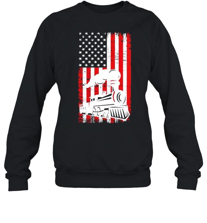 Train locomotive engine 4th july shirt Unisex Sweatshirt
