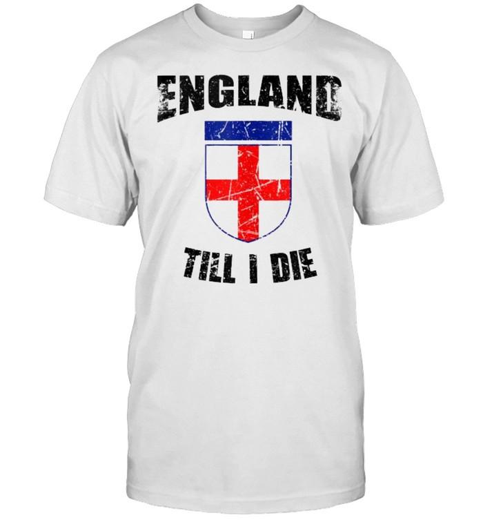 England till i die flag soccer shirt Classic Men's T-shirt