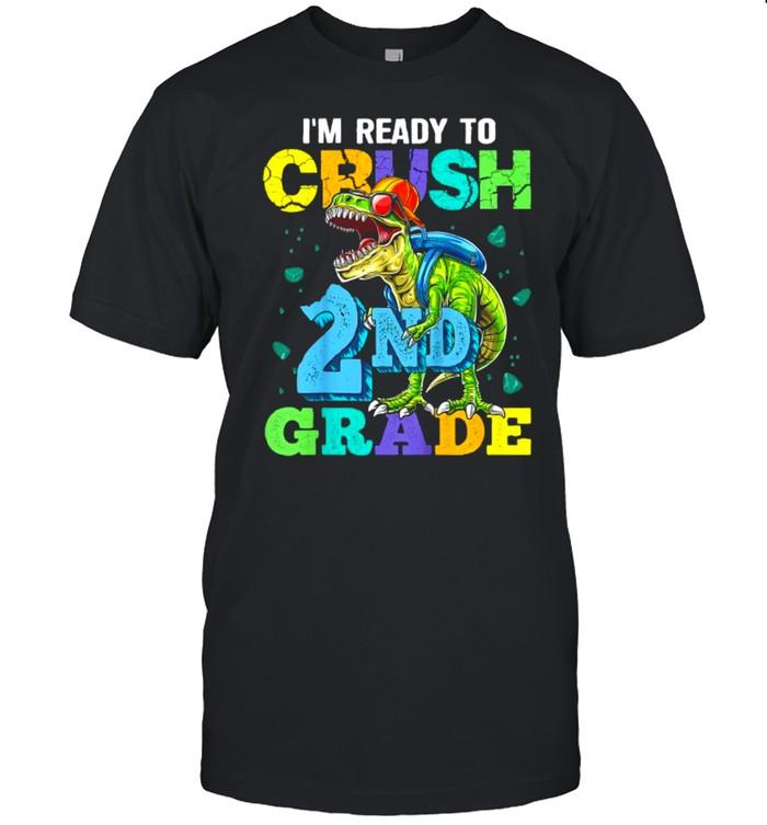 I'm Ready To Crush 2nd Grade Dinosaur Back To School Boy T- Classic Men's T-shirt