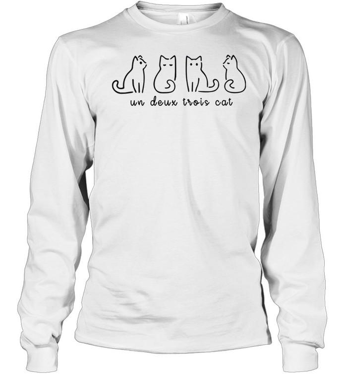 Un Deux Trois Cat shirt Long Sleeved T-shirt