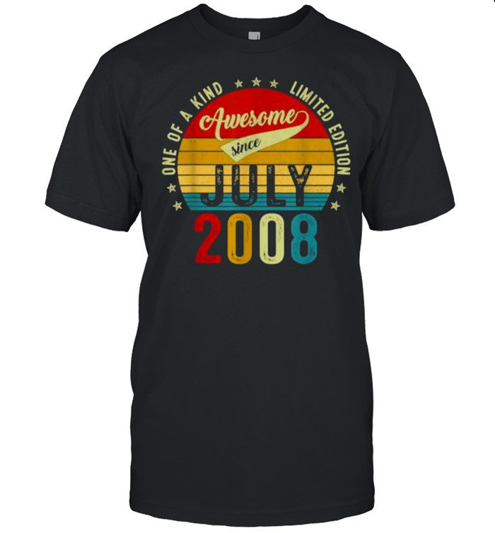 One of a kind limited edition awesone since July 2008 13 years old vintage shirt Classic Men's T-shirt