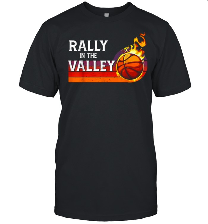 Rally In The Valley Phoenix Flaming Basketball Retro Sunset T- Classic Men's T-shirt