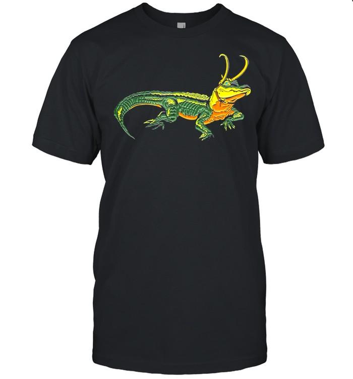Funny Loki Gator Alligator Loki Croki Crocodile God of Mischief shirt Classic Men's T-shirt