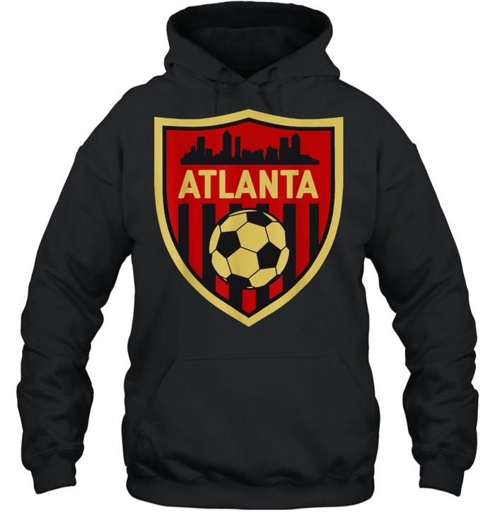 Atlanta Soccer Jersey Style Team Fan FC United Flag ATL shirt Unisex Hoodie