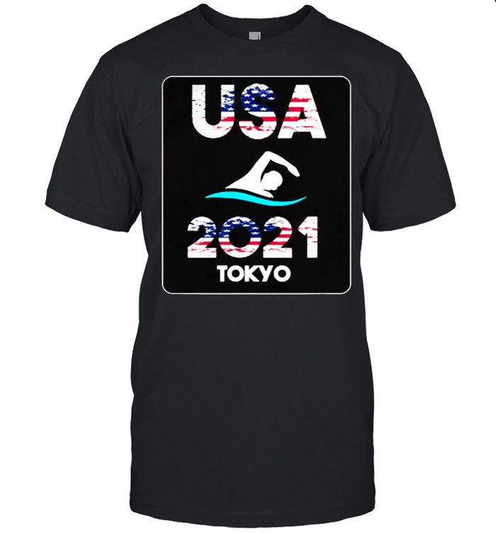 Swimming American Flag – Tokyo Olympic 2021 for USA-Team T- Classic Men's T-shirt