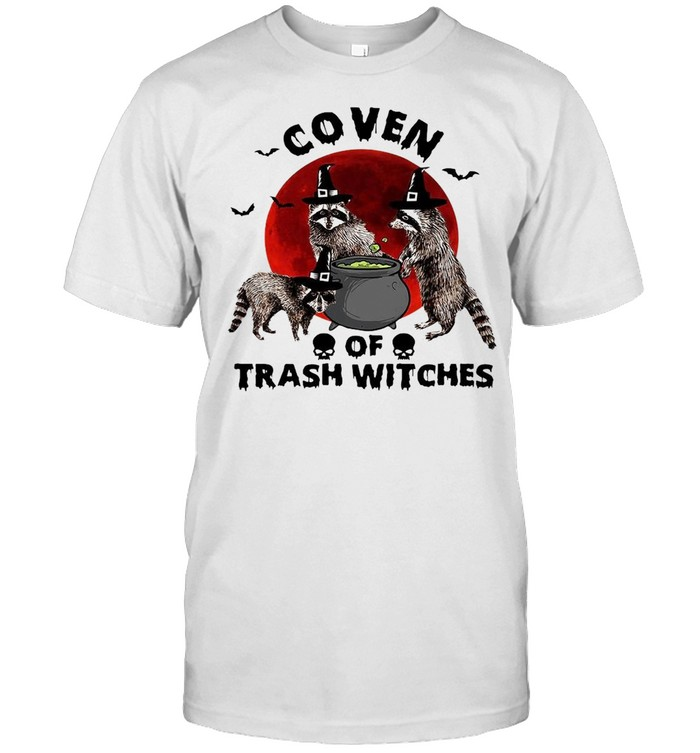 Coven Of Trash Witches Raccoon Halloween T-Shirt Masswerks Store